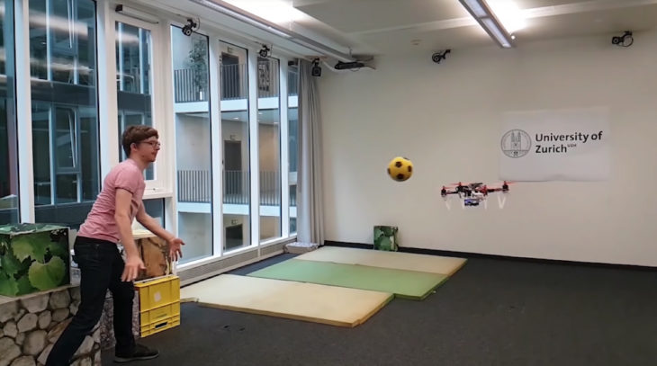 Watch this drone dodge soccer balls hurled at it
