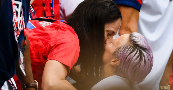 Megan Rapinoe Celebrates World Cup Victory with a Kiss from Girlfriend Sue Bird