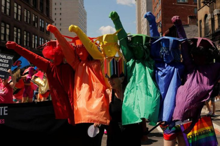 Marchers protest New York's 'commercialized' Pride parade…