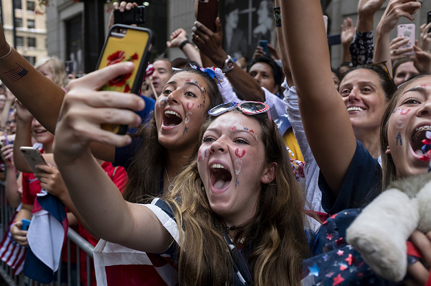 Thousands Of People Celebrated The US Women's Soccer Team World Cup Victory In New York