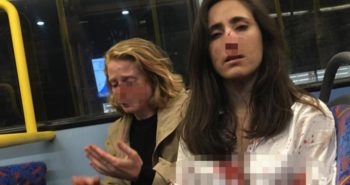 4 teens charged with hate crime over attack on London bus which left 2 gay women bleeding after refusing to kiss for strangers' entertainment