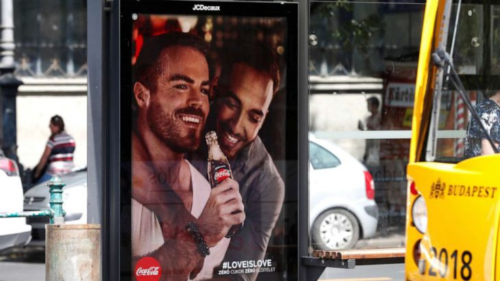 Coca-Cola advertisements featuring gay couples create stir in Hungary