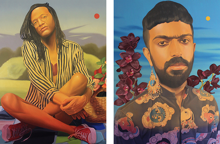Danny Ferrell's colour-saturated paintings celebrate members of his LGBTQ+ community