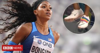 World Championships: US athlete wears gay pride symbol on her shoe