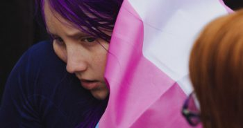Emotional Photos From Outside the First Trans Rights Supreme Court Case Ever