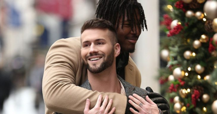 NFL Player Ryan Russell and Boyfriend Corey O'Brien Share PDA During London Date