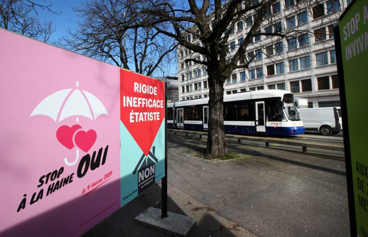 Swiss voters back anti-homophobia law, projection shows