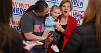 Warren Campaign Volunteers Will Watch Your Kid While You Caucus, but Will They Watch Them While You Eat Potato Skins?