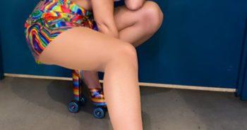 Dua Lipa is a Sexy Rollerskater