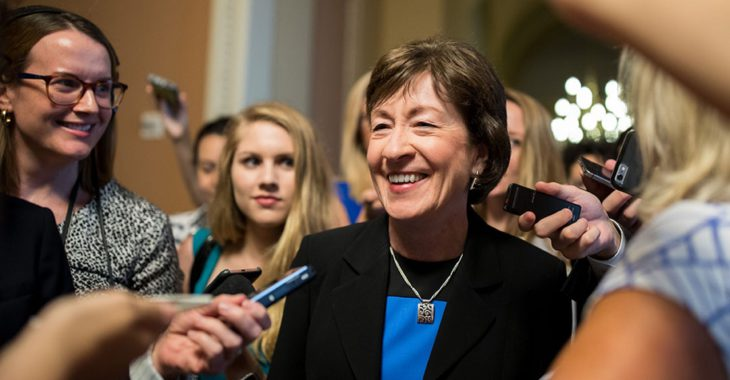 """How the Media Created the """"Moderate"""" Susan Collins"""