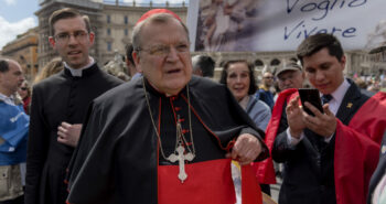 Homophobic cardinal, exiled by the Pope for opposing condoms to prevent HIV, wants Catholics to keep going to church