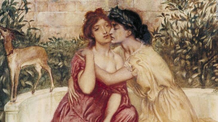 This Victorian painting depicting two women in love was nearly lost in history