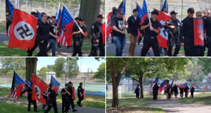 Neo-Nazi group marches in Pennsylvania — in defiance of COVID-19 regulations
