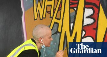 'I'd love to have a massive smoke with George Michael' – Dawn Mellor's Wham-tastic mural